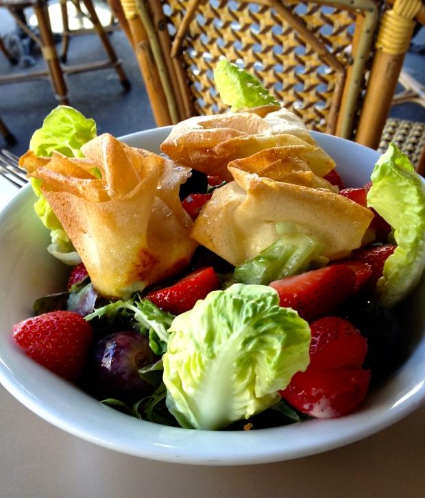 salade de chèvre chaud croustillant