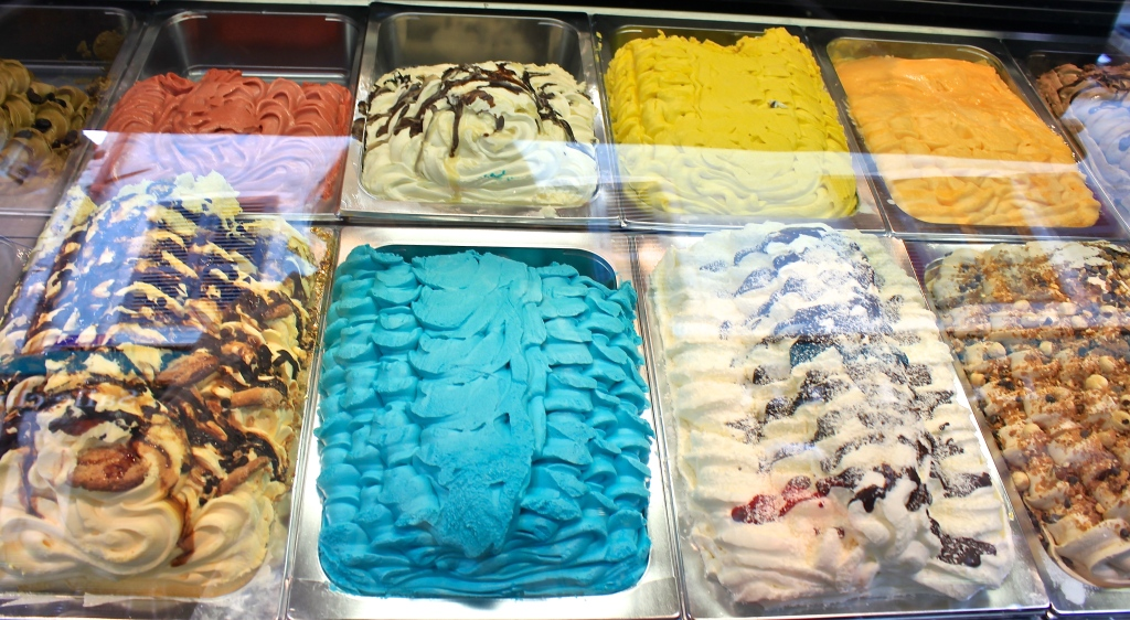 A nod to Italy: colorful and creamy gelato
