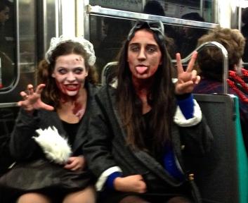 Halloween on the metro....