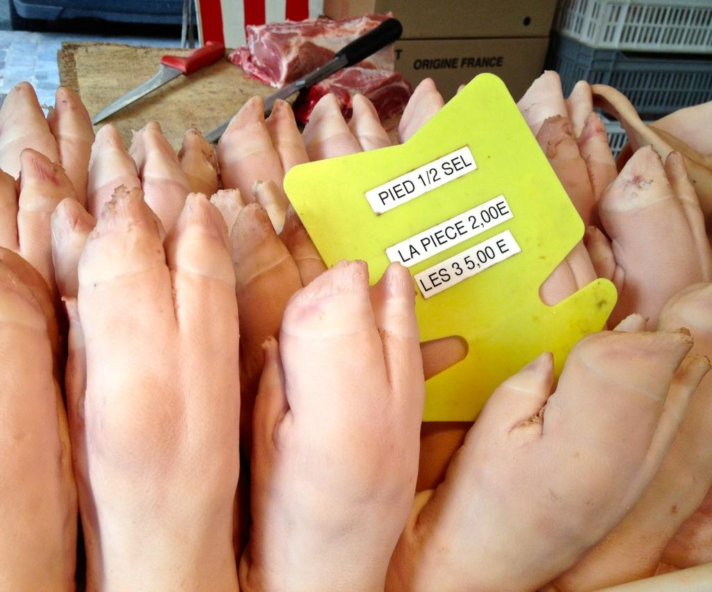 pieds de porc...pigs' feet