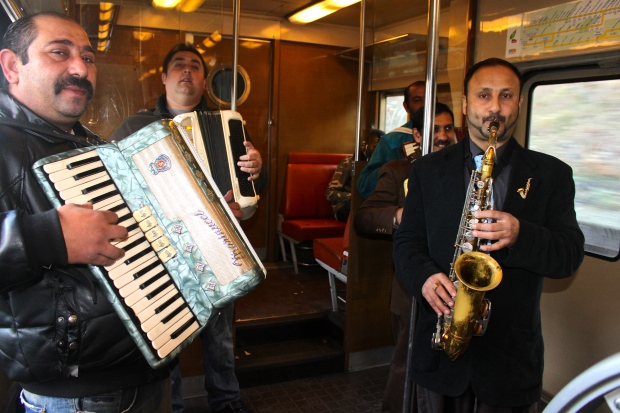 Paris Musicians on the Metro