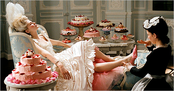 "source: Kirsten Dunst in ""Marie Antoinette,"" directed by Sofia Coppola, NYT"