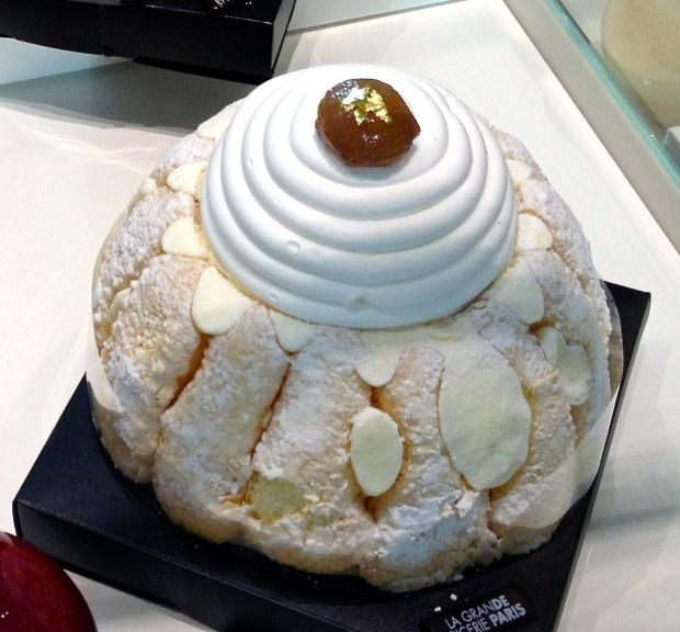 Charlotte Mont-Blanc…biscuit cuillère, crème vanille, chantilly, marron glacés et crème de marrons...