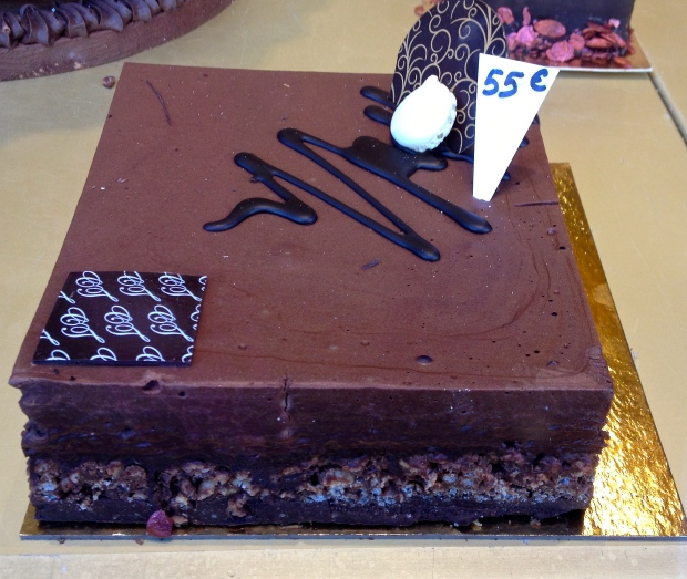 …a much smaller, and far more expensive and delicious gâteau au chocolat (55€-$75), one could only afford for a true celebration...