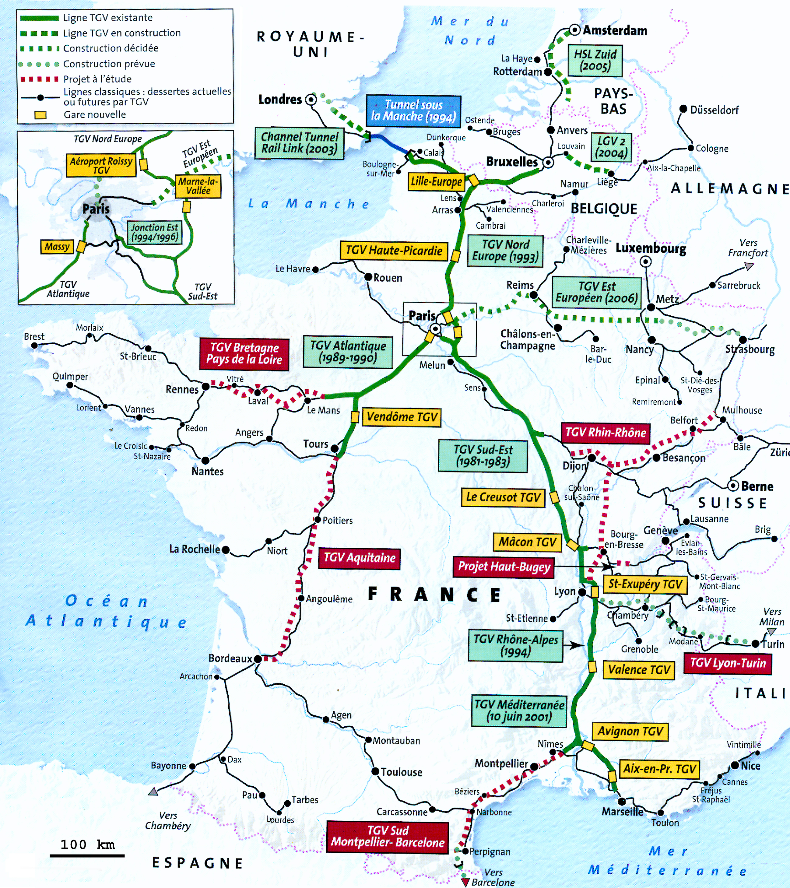 No 178 Bullet Trains – Train Travel France Map