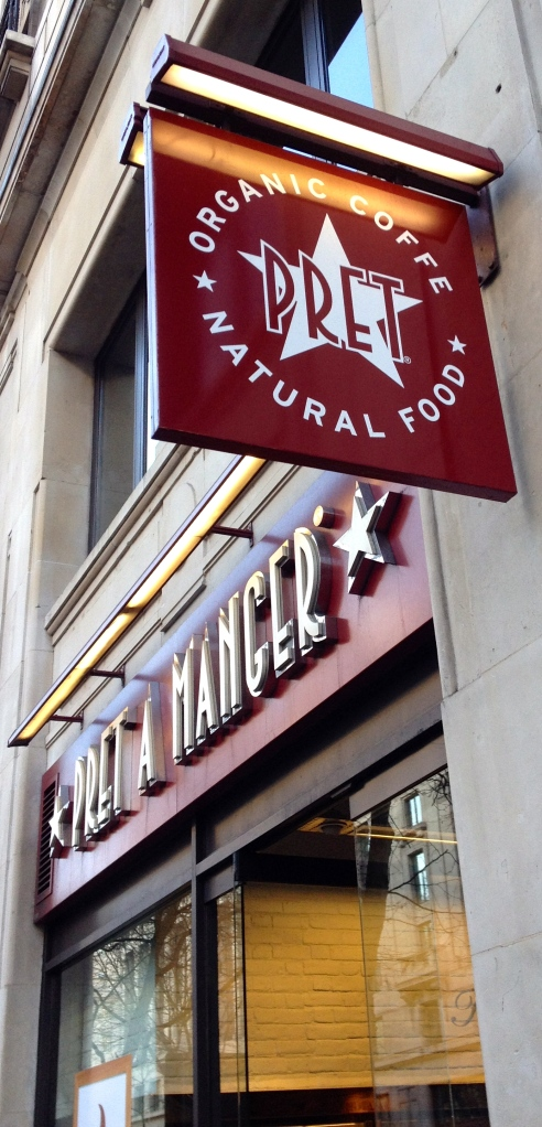 "And of course, Pret à Manger, one of my favorite ""French"" quick food alternatives..."