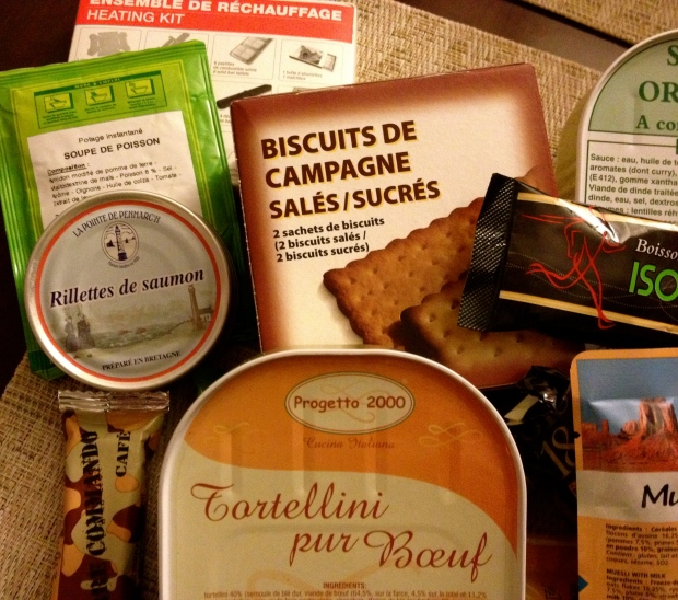rillettes de saumon préparé en Bretagne, along with some other very French eats...