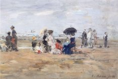 'Trouville,_Scène_de_plage',_oil_on_wood_painting_by_Eugène_Boudin