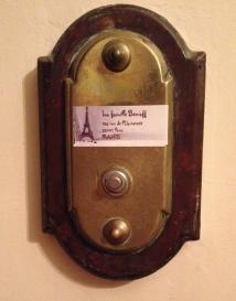 our Paris doorbell